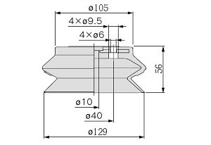 vacuum pads ZP125HB