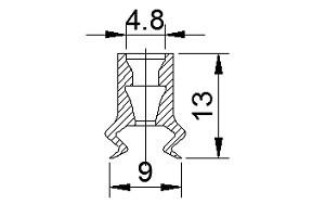 Vacuum Pads ZP08B