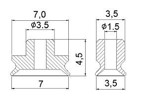 Vacuum Pads PFG-3.5*7