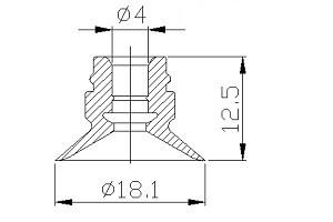 真空吸盤ZU1-16
