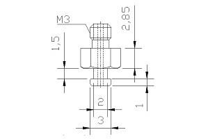 吸盤螺絲 M3