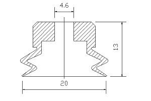 VACUUM PADS PJG-20