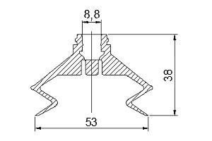 VACUUM PADS ZP50B