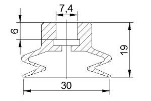 VACUUM PADS ZP25B