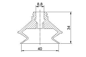 VACUUM PADS VP40B