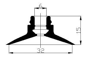 真空吸盤 ZU1-32