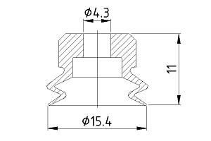 VACUUM PADS PJG-15