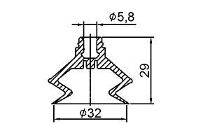VACUUM PADS ZP32B