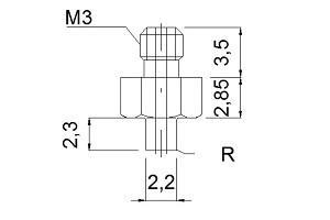 中空螺絲M3