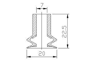 VACUUM PADS PBG-130B