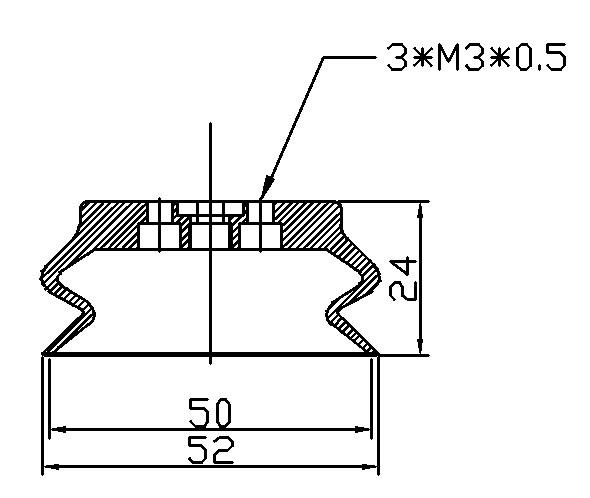Vacuum Pads ZPT50HB