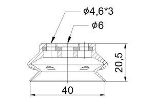 VACUUM PADS ZPT-40HB