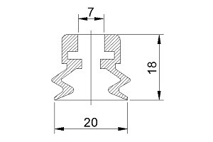 VACUUM PADS S2-20
