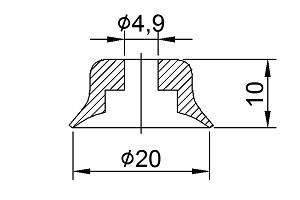 Vacuum Pads PFG-20