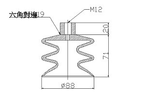 真空吸盤S3-90-B12