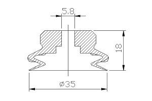 vacuum pads PJG-35