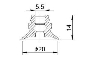 吸盤ZPT20CN