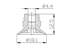 真空吸盤 ZC1-16
