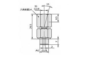 TN-G1/8-IG G1/8-AG
