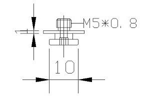 吸盤螺絲 M5