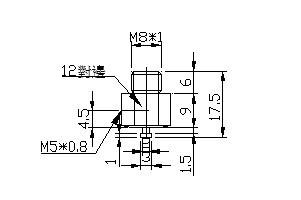 吸盤螺絲 M8