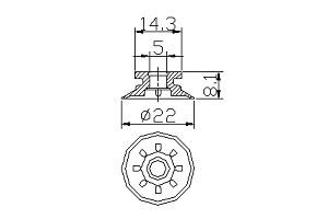 吸盤S1-22