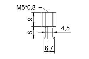 中空螺絲B5
