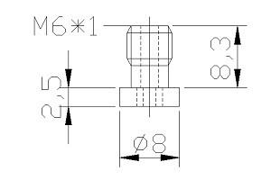 中空螺絲M6