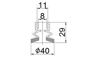 海綿吸盤 S2-40SCA