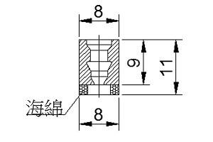 海綿吸盤 CA1-08D-口CA