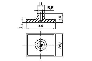 方形吸盤 S1-34.1*44