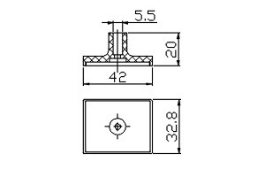 方形吸盤 S1-32.8*42