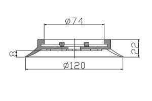 真空吸盤 PU1-120