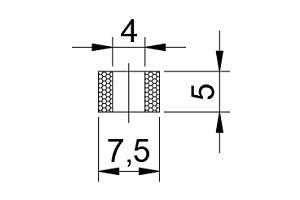 海棉吸盤 CA1-07.5*4*5-PE